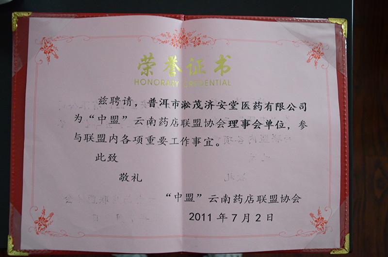 云南药店联盟协会理事会单位