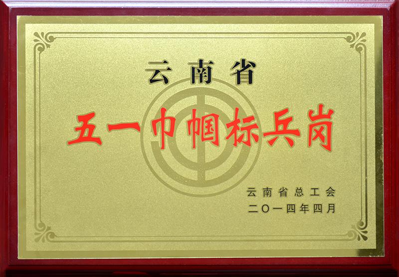 2014年—云南省五一巾帼标兵岗